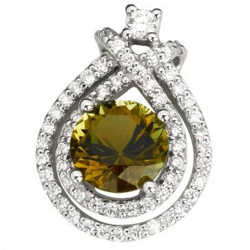 Підвіска з діамантами та кольоровим камінням 989-0825