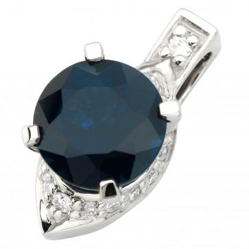 Підвіска з діамантами та кольоровим камінням 989-0849