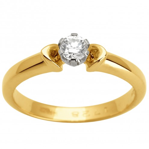 Каблучка з 1 діамантом 321-1493