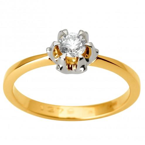 Каблучка з 1 діамантом 321-1843