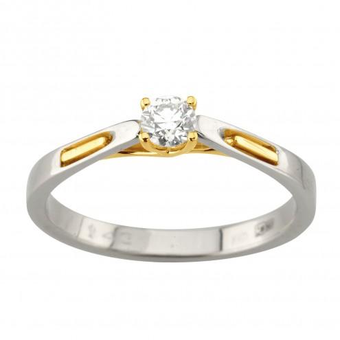 Каблучка з 1 діамантом 321-2068