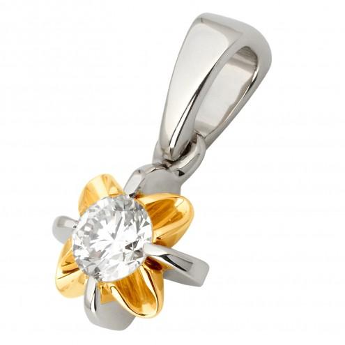 Підвіска з 1 діамантом 329-0768