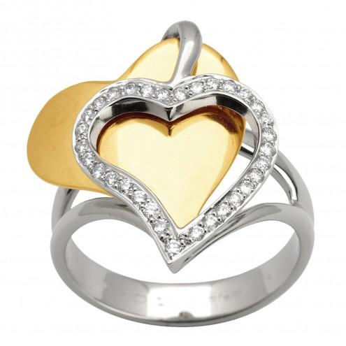 Каблучка з декількома діамантами 341-1375