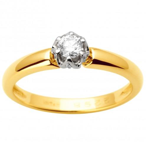 Каблучка з декількома діамантами 341-1641