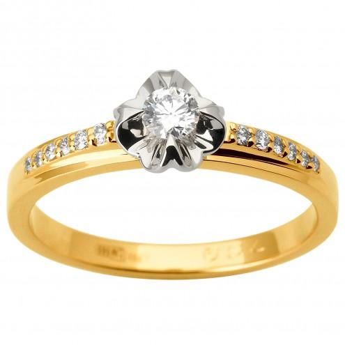 Каблучка з декількома діамантами 341-1806