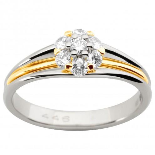 Каблучка з декількома діамантами 341-1912
