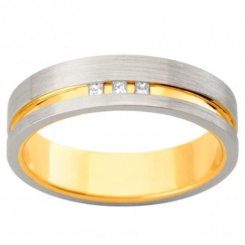 Обручальное кольцо с несколькими бриллиантами 341-1916