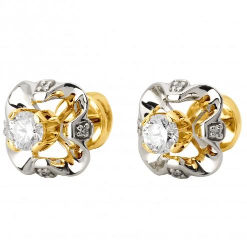 Сережки з декількома діамантами 342-0979