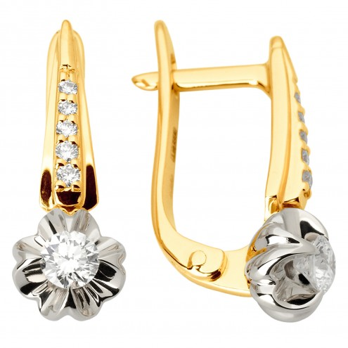 Сережки з декількома діамантами 342-1068