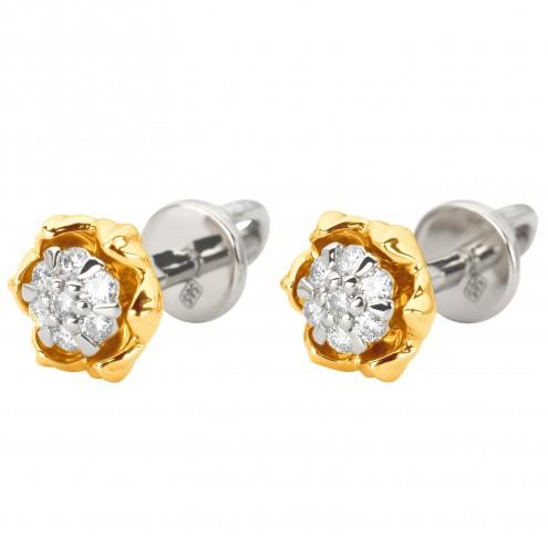 Серьги с несколькими бриллиантами 342-1181