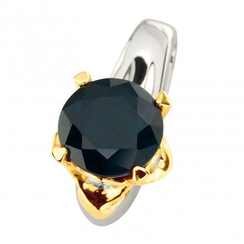 Підвіска з діамантами та кольоровим камінням 389-0840