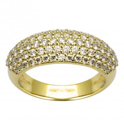 Каблучка з декількома діамантами 741-0401