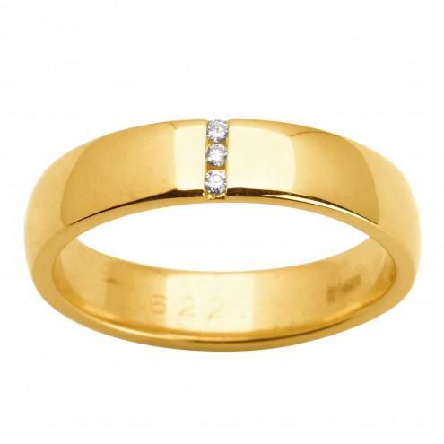Обручка з декількома діамантами 741-1512