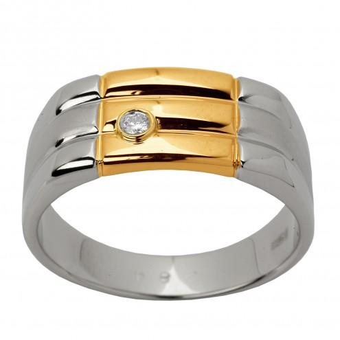 Перстень з 1 діамантом 821-0830