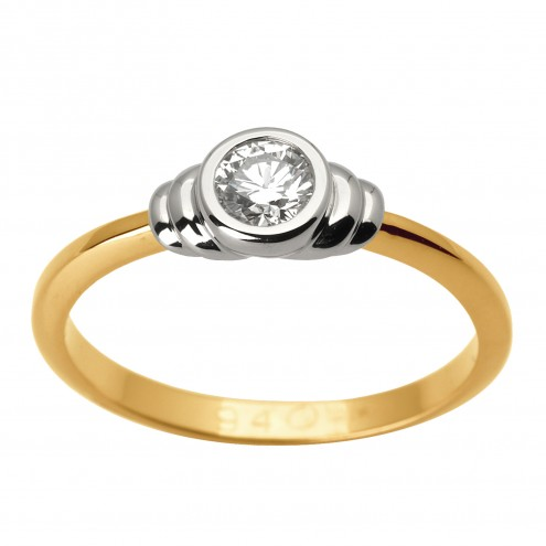 Каблучка з 1 діамантом 821-1606
