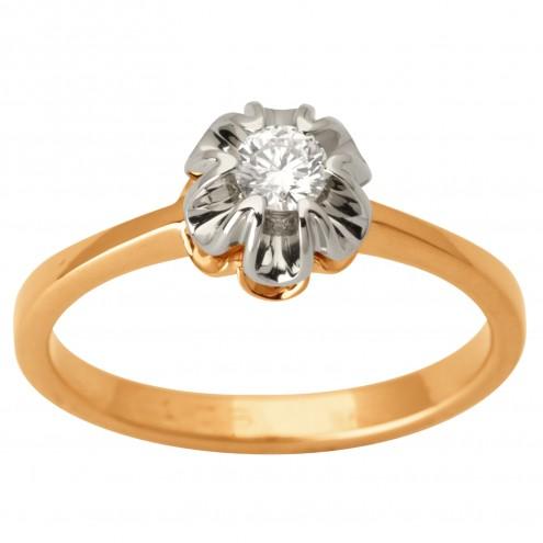 Каблучка з 1 діамантом 821-1690