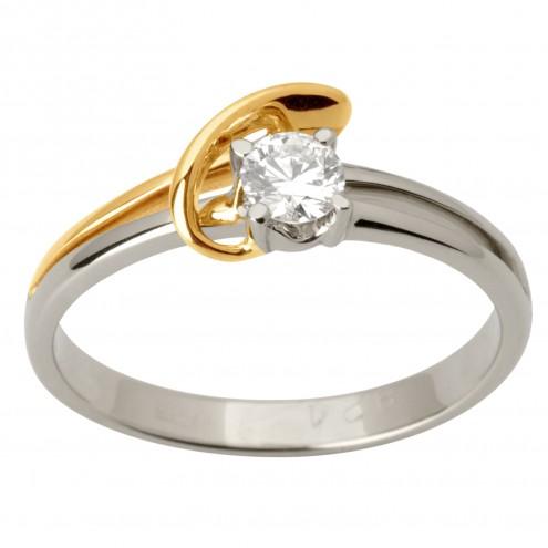 Каблучка з 1 діамантом 821-1720