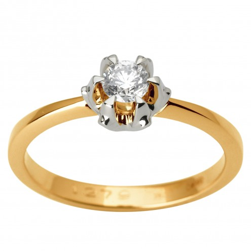 Каблучка з 1 діамантом 821-1843