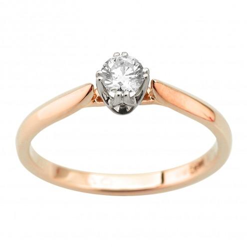 Каблучка з 1 діамантом 821-2058