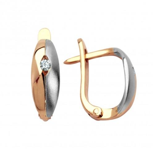 Сережки з 1 діамантом 822-0149