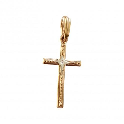 Хрест з 1 діамантом 829-0034