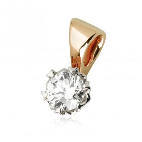 Підвіска з 1 діамантом 829-0779