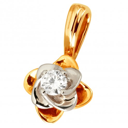 Підвіска з 1 діамантом 829-0809