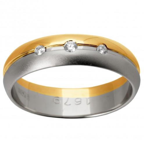 Обручка з декількома діамантами 841-0424