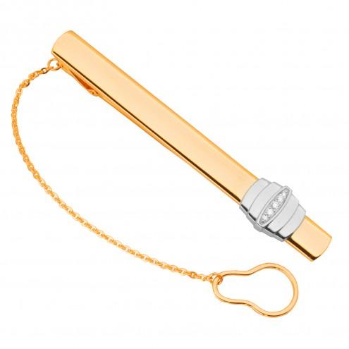 Затискач для краватки з декількома діамантами 845-0077