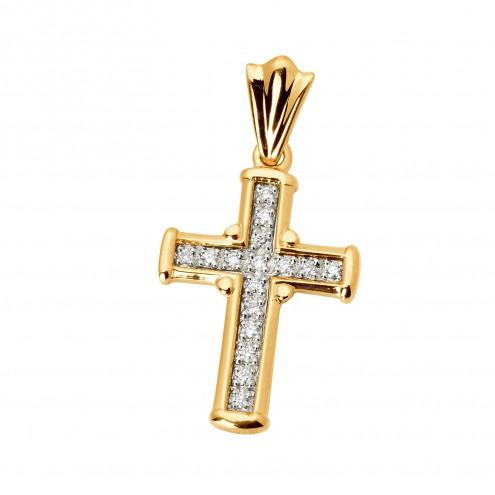 Хрест з декількома діамантами 849-0315