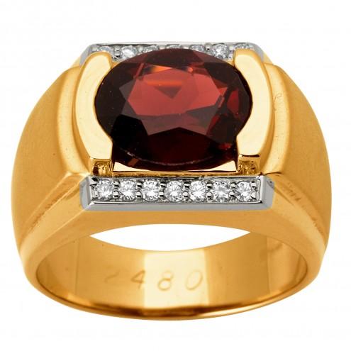 Перстень з діамантами та кольоровим камінням 881-1149