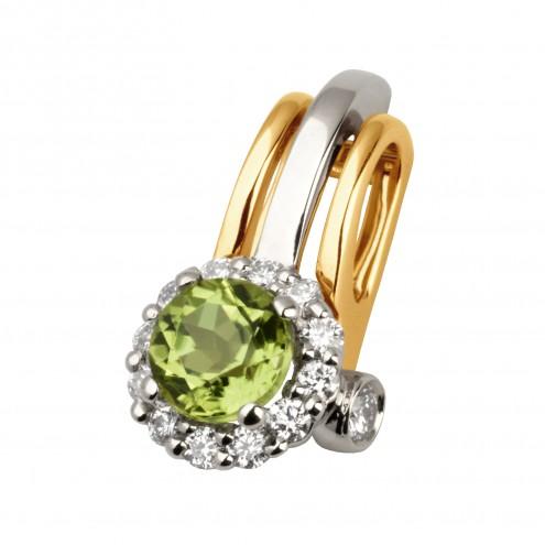 Підвіска з діамантами та кольоровим камінням 889-0636