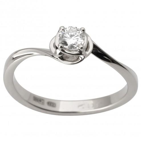 Каблучка з 1 діамантом 921-1793