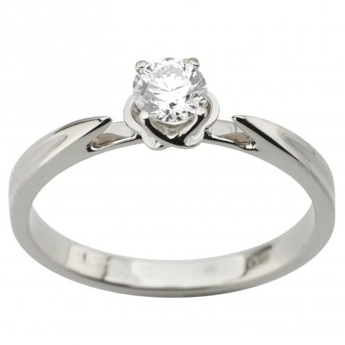 Каблучка з 1 діамантом 921-1956