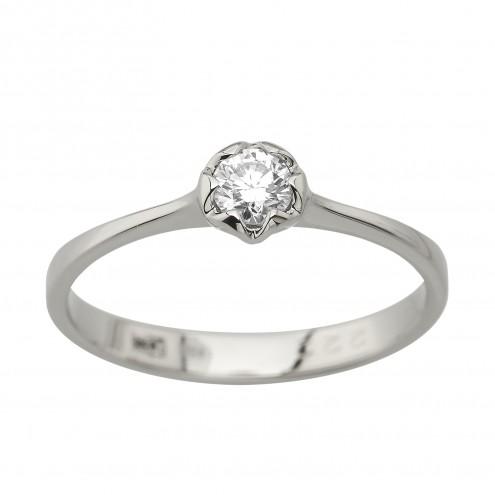 Каблучка з 1 діамантом 921-4019