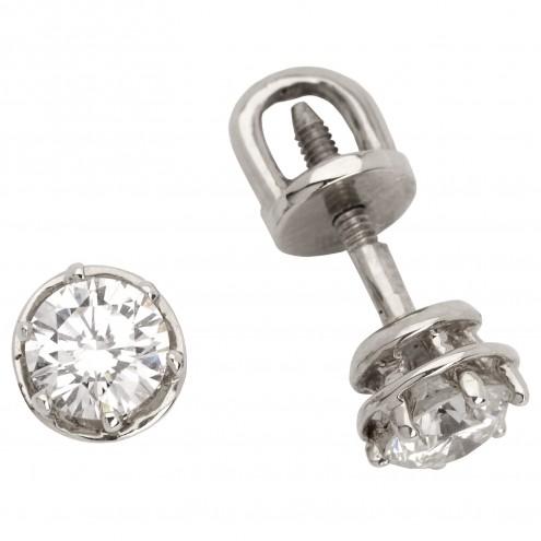 Сережки з 1 діамантом 922-0278