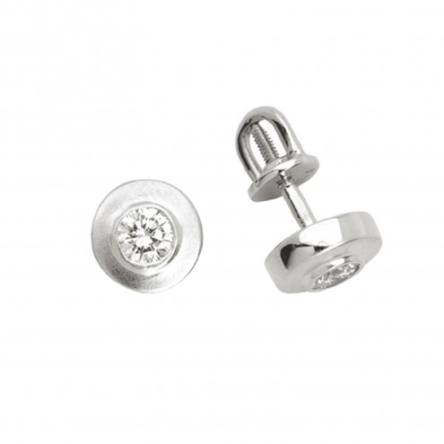 Сережки з 1 діамантом 922-0311