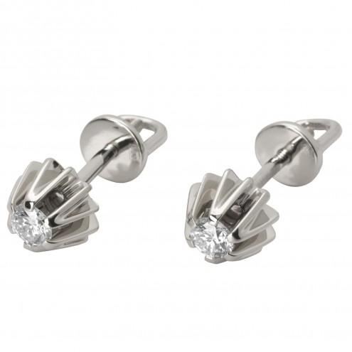 Сережки з 1 діамантом 922-0739
