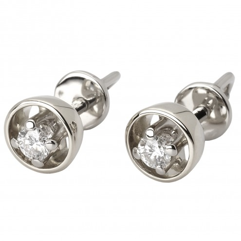 Сережки з 1 діамантом 922-0776