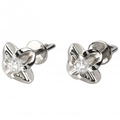 Сережки з 1 діамантом 922-0831
