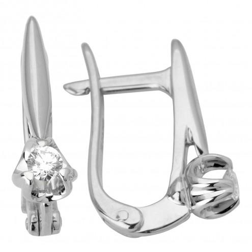 Сережки з 1 діамантом 922-0959