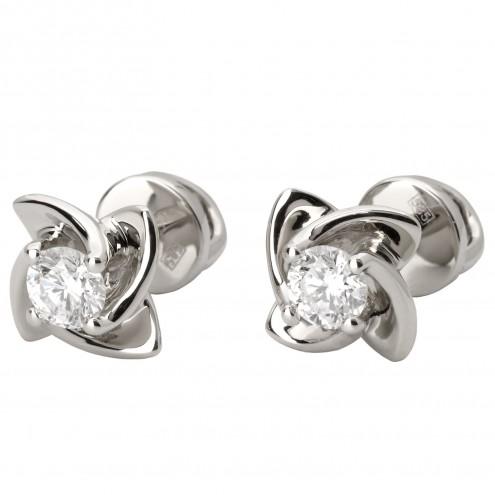 Сережки з 1 діамантом 922-1022