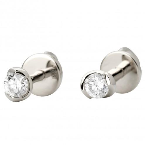 Серьги с 1 бриллиантом 922-1071