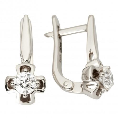 Сережки з 1 діамантом 922-1147