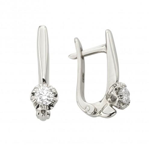 Сережки з 1 діамантом 922-1159