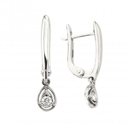 Сережки з 1 діамантом 922-2042