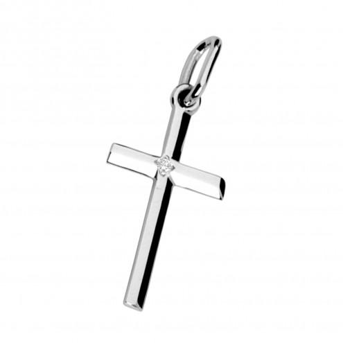 Хрест з 1 діамантом 929-0035
