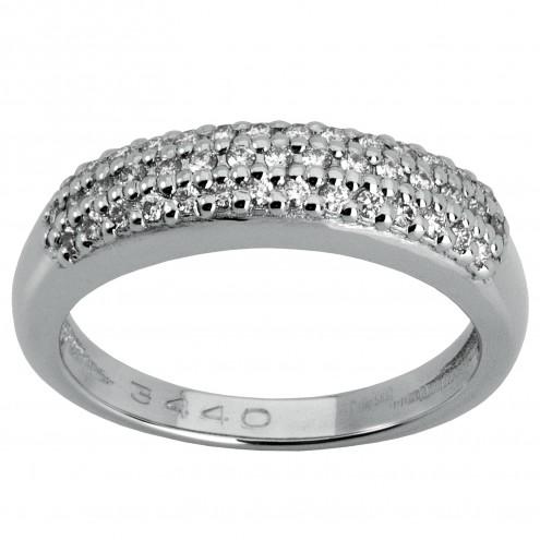 Каблучка з декількома діамантами 941-0373