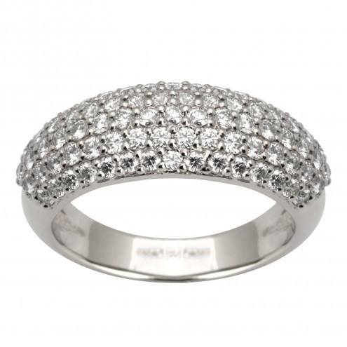 Каблучка з декількома діамантами 941-0401