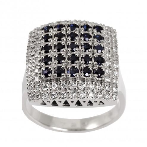 Каблучка з декількома діамантами 941-0506